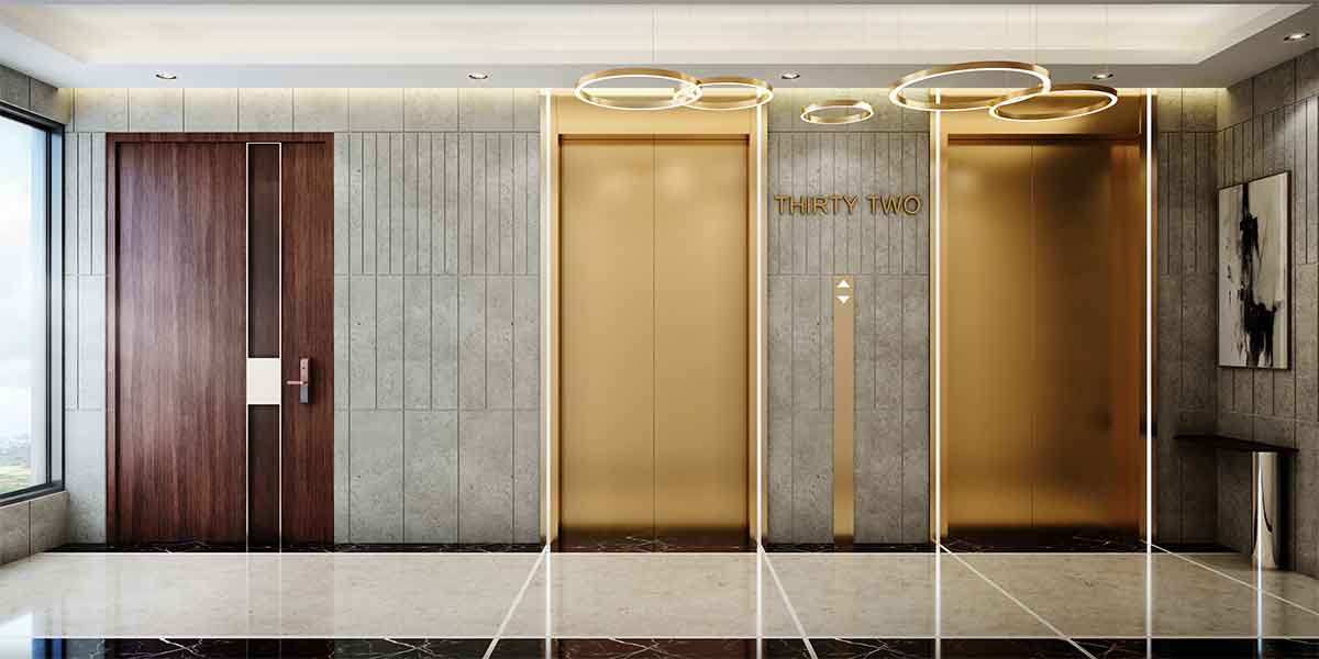 Private Lift Lobby - High-speed elevators open directly in your lobby